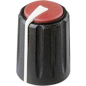 Rean Tête de bouton rotatif F 311 S 092 noir/rouge (Ø x h) 11 mm x 15.15 mm 1 pc(s)