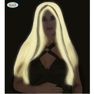 Perruque Halloween Phosphorescente - Cheveux Longs