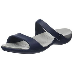 Crocs Cleo V Sandal Women, Femme Sandales, Bleu (Navy/Light Grey), 36-37 EU