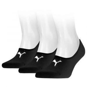 Puma Lot de 3 paires de chaussettes Footie Noir - Taille 43-46