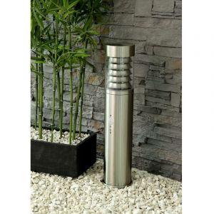 Heitronic Lampadaire extérieur 1x E27 230 V ACmax. LEDIP44 12 W CLASSE DE PROTECTION 1 SATURN 36892 acier inoxydable 1 pc(s)