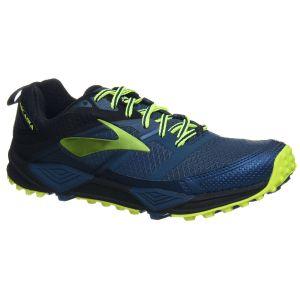 Brooks Cascadia 12, Chaussures de Trail Homme, Multicolore (Blue/Black/Nightlife 1d419), 42 EU