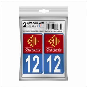 Cadox 2 Stickers En 3d Département Aveyron 12