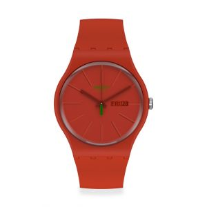 Swatch Montre Femme, homme New Gent Rouge