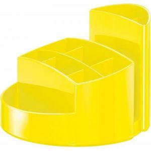 Han 17460-95 - Pot à crayons RONDO, 9 compartiments, en PS, coloris jaune