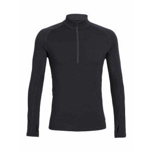 Icebreaker Mens Everyday LS Half Zip Sous Vêtement Thermique Homme Black FR : S (Taille Fabricant : S)