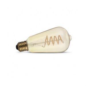 Vision-El Ampoule Led COB FILAMENT SPIRALE 4W (35W) E27 Blanc chaud 2700°K Golden