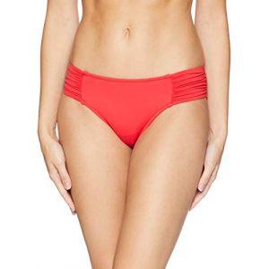 Seafolly Culotte de maillot de bain Ruched Side Retro Rouge