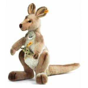 Steiff 64623 - Peluche kangourou Kango avec bébé