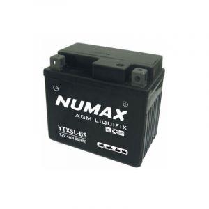 Numax Batterie moto Premium AGM avec pack acide YTX5L-BS 12V 4Ah 80A