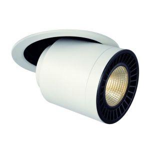 SLV Spot LED encastrable LED intégrée Supros Move 114121 blanc chaud 35 W blanc