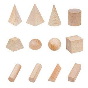 MagiDeal Lahomia Blocs Géométriques En Bois Lisse Matériel Sûr Noël Enfants Puzzle Jouet Cadeau