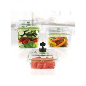 FoodSaver FFC020X-01 Lot de 3 Boîtes fraicheur pour Appareil de mise sous vide claire