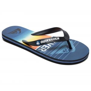 Quiksilver Tongs Molokai Highline Slab - Black / Blue / Blue - EU 34