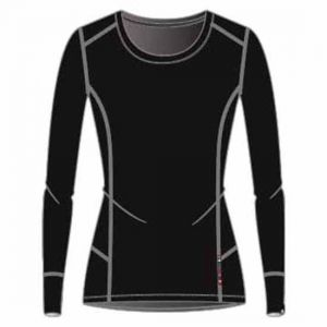 Odlo T- Shirt ML Natural 100% Merino Manches Longues Femme, Noir, FR (Taille Fabricant : XS)