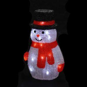 Bonhomme de neige acrylique lumineux (18 x 15 x 27 cm)
