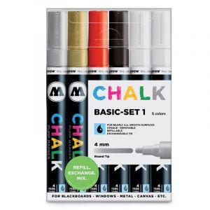 Molotow Chalk 4 mm Basic Set 1 marqueur set
