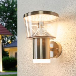 Lampenwelt LED Applique Exterieur Inox 'Antje'