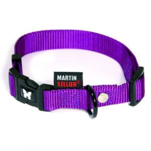 Martin Sellier Collier pour chien en nylon réglable 40/55 cm