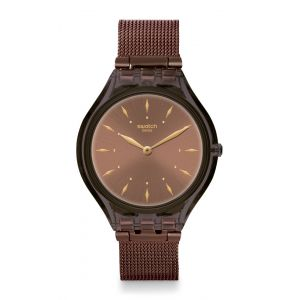 Swatch Montre Femme, homme New Skin Marron