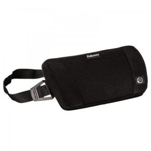Fellowes 8026501 - Support pour lombaires Plush Touch, coloris noir