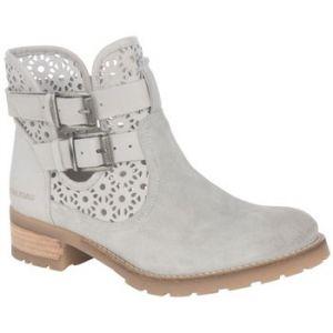 Pataugas Dove - Boots ajourées en cuir Gris