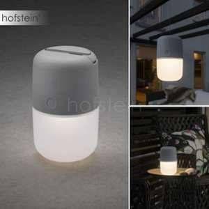 Konstsmide Lampe de table solaire LED Assisi 1 W blanc chaud gris