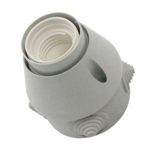 Zenitech Douille orientable étanche E27 - Orientable - Etanche - Type d'ampoule : E27 - Norme : CE.