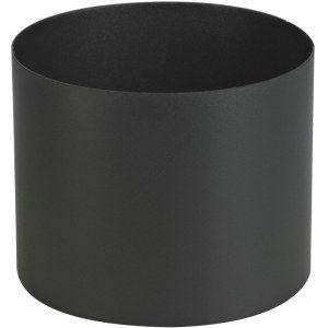 Ten Raccord émail noir mat femelle-femelle Ø150 12cm -