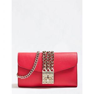 Guess Prisma - Sac pochette détail chaîne - rouge