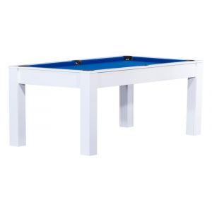 No Name Billard convertible en table à manger 6 personnes Verviers Blanc, Bleu (tapis)