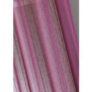 Homemaison Rideau voilage étamine unie à rayures verticales (150 x 260 cm)