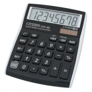 Citizen 72482-90 - Calculatrice de table petit format CDC-80BKWB