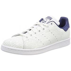 Adidas Stan Smith, Baskets Femme, Blanc Footwear White/Noble Indigo 0, 40 2/3 EU