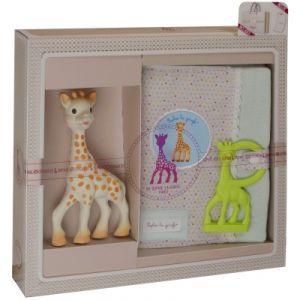 Vulli Coffret de naissance protège carnet de santé et hochet Sophie la girafe (3 pièces)
