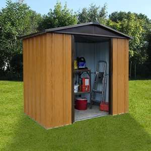 Yardmaster Abri de jardin en métal aspect bois 4,38m²