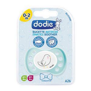 Dodie Sucette naissance anatomique silicone Chat bleu 0-2 mois