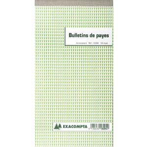 Exacompta Bulletin de paye autocopiant 50 dupli (24 x 135 mm)