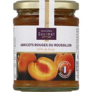 Monoprix gourmet Confiture aux abricots rouges du roussillon, 65% de fruits