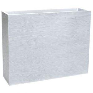 Eda Plastiques Muret loft blanc gamme Graphit L99,5x I29,5xH78,5 cm