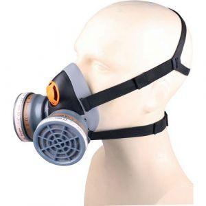 Delta Plus Demi-masque confort bi filtre équipé de 2 galettes filtrantes A2 et 2 pré-filtres P3 M6400 SPRAY KIT- M6400EA2P3R