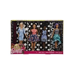 Mattel Coffret 4 Barbie Fashionistas