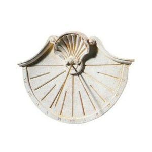 Delta Cadran solaire en pierre reconstituée Coquille