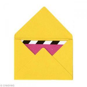 Rico Design Mini enveloppes et cartes Jaune - 4,5 x 3 cm - 10 pcs
