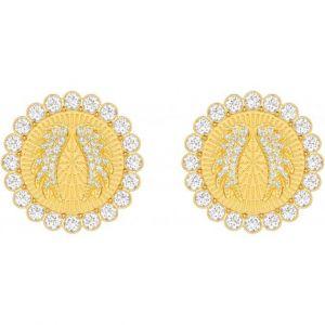 Swarovski : Boucles d'oreilles 5464120 - Boucles d'oreilles Ailes d'Ange Dorées Jaunes