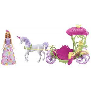 Mattel Barbie Princesse et sa calèche