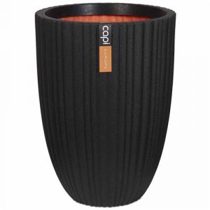 Capi Pot à fleurs Urban Tube 46 x 58 cm Noir PKBLT783