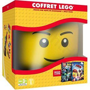 La Grande aventure Lego + LEGO Batman : le film [Tête de rangement LEGO] - DVD ( Neuf )