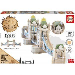 Educa Tower Bridge - Puzzle 3D en bois 92 pièces