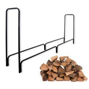 BC-Elec Bc elec - HMFR-06 Rangement à bois en acier noir 240X36X120CM, rack pour bois de chauffage, range-bûches